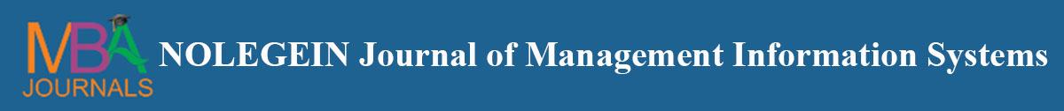 NOLEGEIN Journal of Management Information Systems