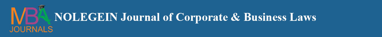 NOLEGEIN Journal of Corporate & Business Laws