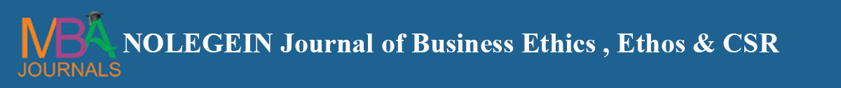 NOLEGEIN Journal of Business Ethics , Ethos and CSR
