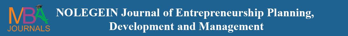 NOLEGEIN Journal of Entrepreneurship Planning, Development and Management