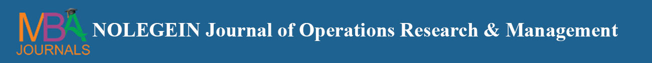NOLEGEIN Journal of Operations Research and Management