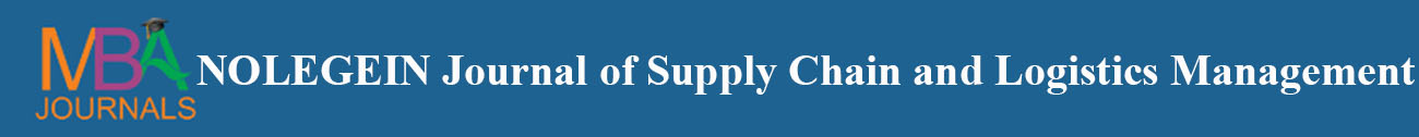 NOLEGEIN Journal of Supply Chain and Logistics Management